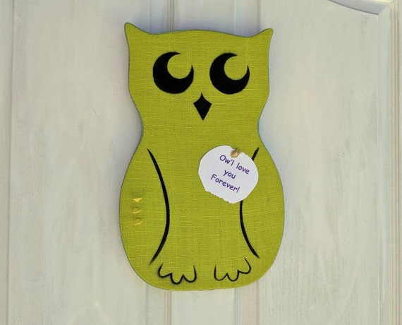 Owl Bulletin Board, Owl Home Decor, Back to School Organization Board, Dorm Room Decor - ready to ship @ ApronStringsOwlLady