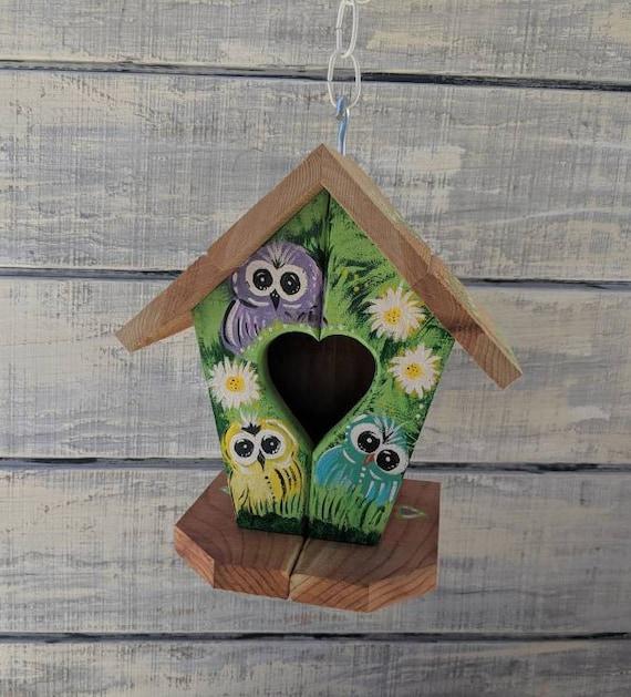 Owl Gifts, Owl Birdhouse, Owl artwork, Owl Yard, Owl Decoration, Owl Gifts for Yard, Gifts for Women Ready to Ship @ ApronStringsOwlLady