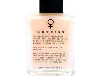 Goddess Nail Polish | Crystal Infused Nail Polish | Crystal Nail Polish | Goddess Gifts | Rose Quartz | Selenite | Moonstone