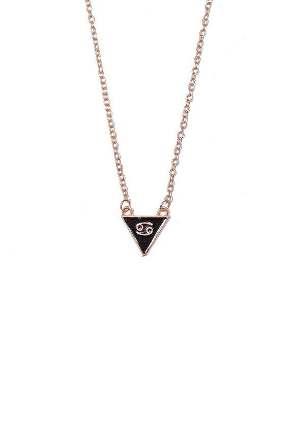 Cancer Triangle Necklace Cancer Necklace Small Cancer Etsy