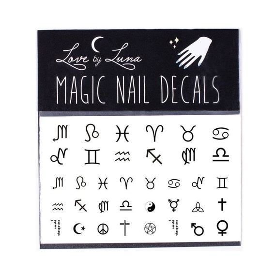 Zodiac Nail Decal Astrology Nail Decal Nail Wraps Etsy