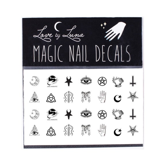 Occult Nail Decals Symbols Nail Decal Witch Nail Decal Etsy