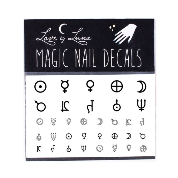 Planet Symbol Nail Decals Astrology Planet Nail Decals Etsy