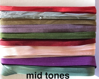 YLI woven silk ribbon packs - variety of lengths, colours and widths