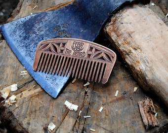 Men comb gift for him personalized comb wooden beard comb men gift husband gift comb for men dad gift comb for beard fear the beard comb