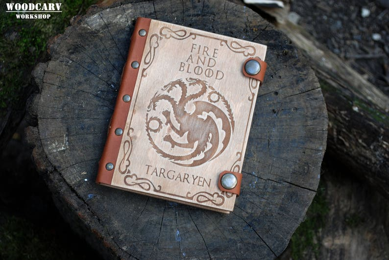 52c66565d Targaryen house Game of thrones gift notebook Fire and Blood