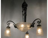 A7630 French Art Deco Chandelier