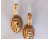 A8152 Antiques Pair of Candle wall Sconces