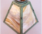S1002 Antique Arts & Crafts slag glass Lantern Shades replacement shades