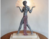 A7720 Art Deco 1920's Egyptian Female Figural Table Lamp