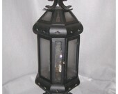 A8319 Vintage 1920's-30's Pair of Iron Newell Post Lanterns