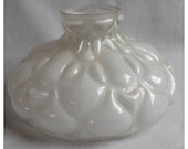 S1033 Antique Puffy Glass Shade for Kerosene, Oil Lamp circa 1880's