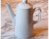 M4289 Antique Copeland Spode White China Coffee Pot-Chocolate Pot