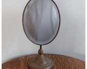 M4200 Antique Nickel Barber Shop Mirror