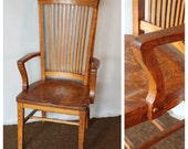 F4458 Antique American Quartersawn Oak Office Chair