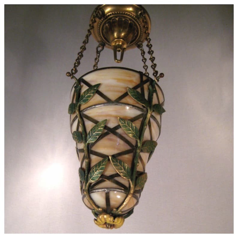A8392 Slag Glass Bowl Lights 2 available sold separately image 0