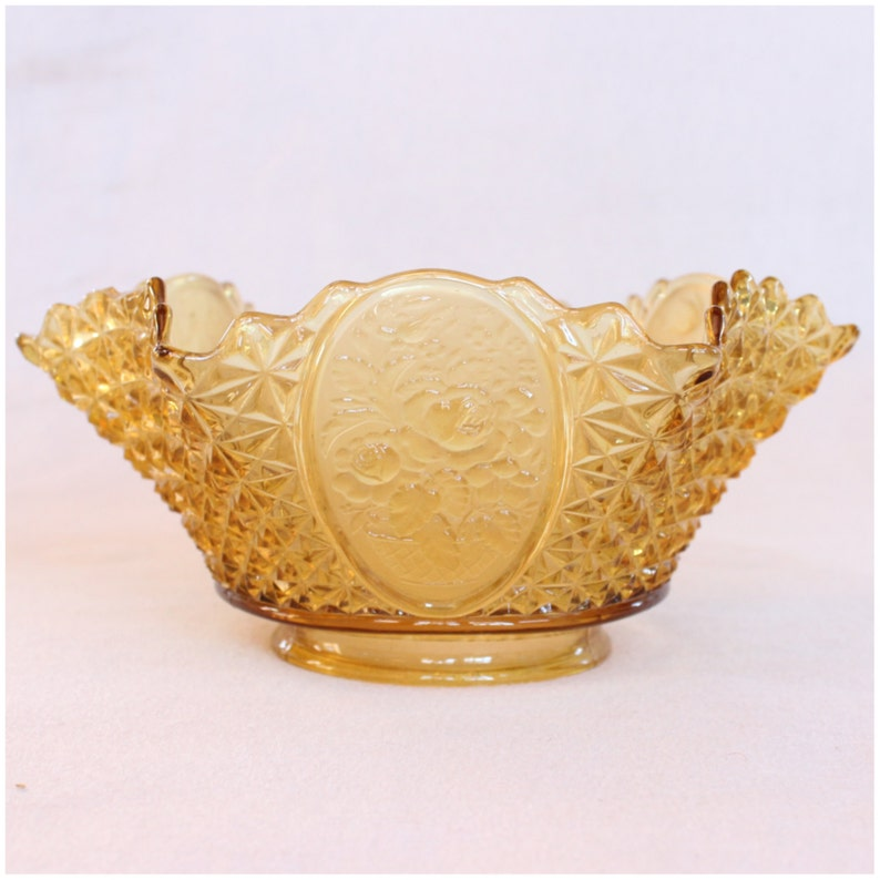 S1011 Antiques  Amber Glass Victorian Gas Shade Replacement image 0