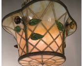A7945 Antique Basket Chandeliers (2 available)