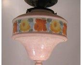 A8124 Bellova Etched Glass Globe flush mount light fixture