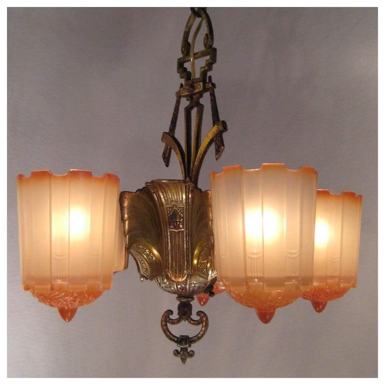 A7755 Art Deco Chandelier image 0