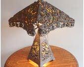 A7960 Antique Nickel Reposee Table Lamp