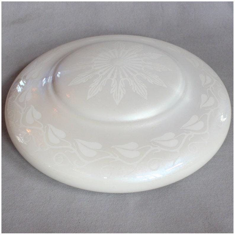 S1005 1920's Vintage Steuben Calcite Dome bowl Glass Light image 0