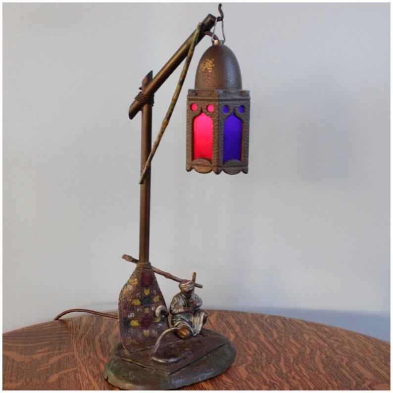 A6240 Antique Bedouin Arab Merchant Novelty Lamp image 0