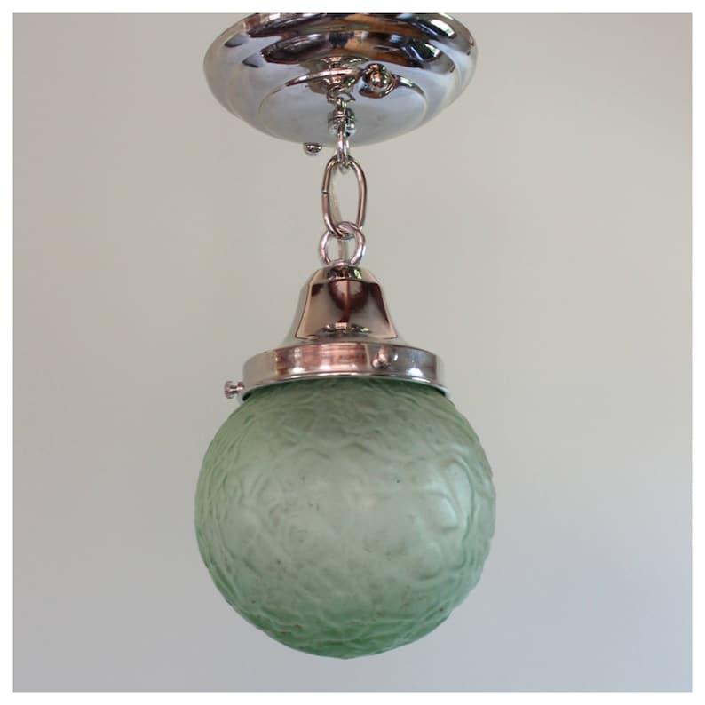A8065 Antique Art Deco Globe Pendant image 0
