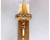 A7274 Antique Oversized Gothic Brass Wall Sconces