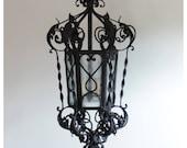 A7823 Antique French / Spanish Iron Lantern