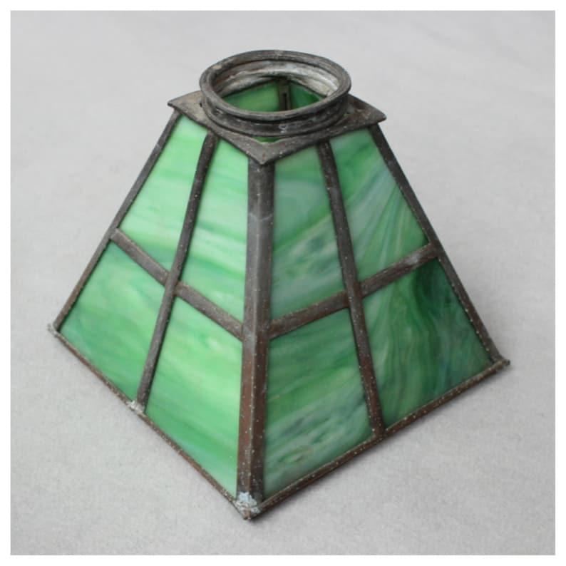 S1069 Leaded Slag Glass Shade image 0