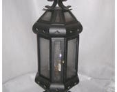 A8319.....Two Vintage 1920's-30's of Iron Newell Post Lanterns