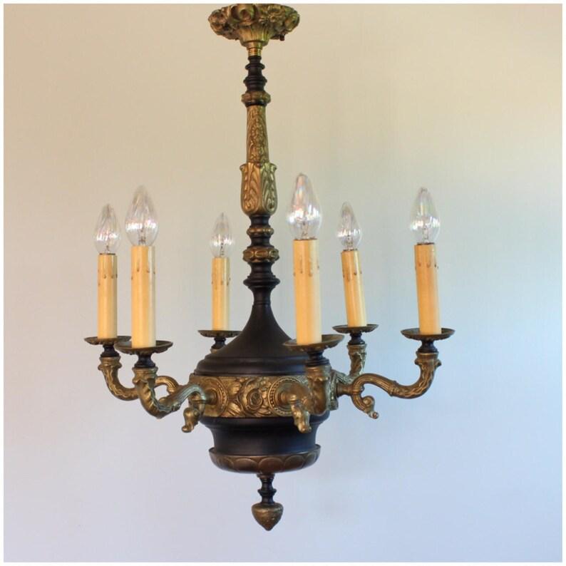 A8207 Art Deco Candle Chandelier image 0