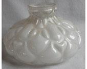 S1033 Antique Puffy Glass Shade for Kerosene, Oil Lamp circa 1880's