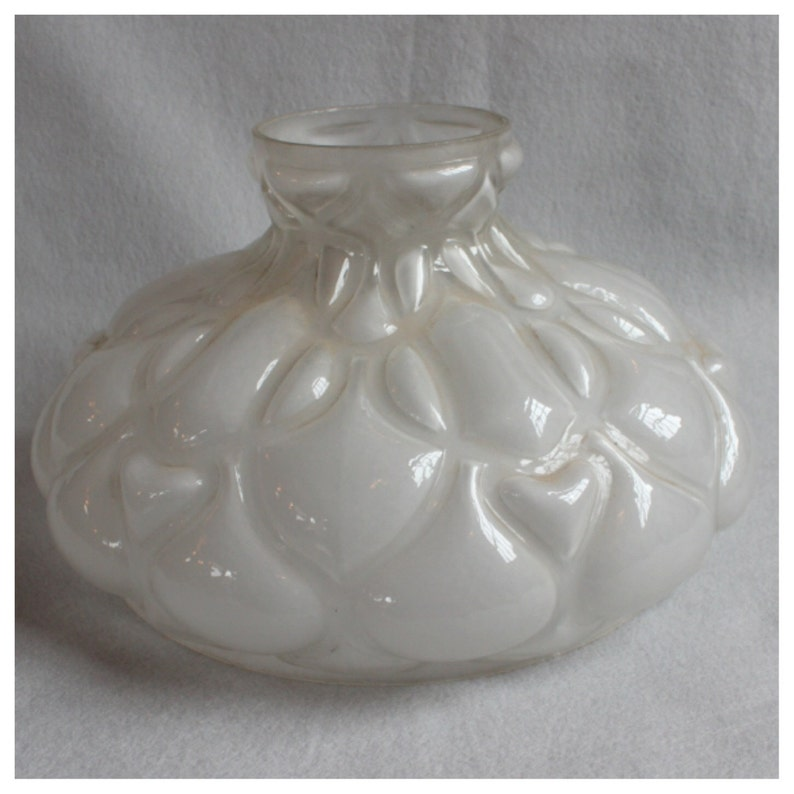S1033 Antique Puffy Glass Shade for Kerosene Oil Lamp circa image 0