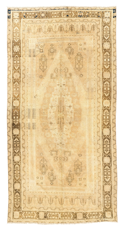 Antiques Reserved 7.5x11 Vintage Oushak Carpet