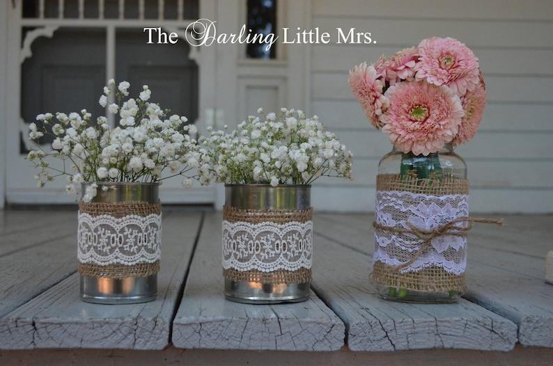 decoración de la boda de condado latas de aluminio boda | etsy