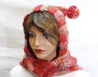Hooded Scarf, hooded scarves, crochet scoodie, scoodie, scoodie scarf,  crochet hooded scarf, red hood