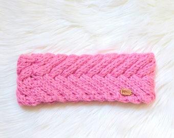 Handmade Fishtail Cabled Knit Headband / Ready to Ship
