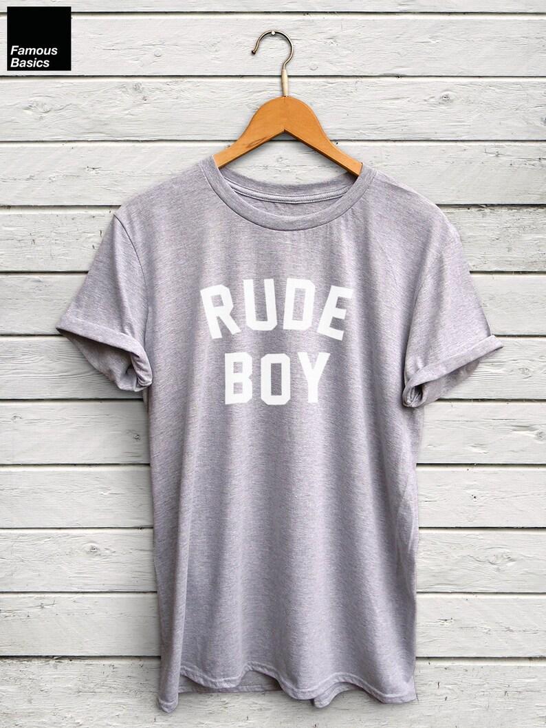 cc327773 Rude Boy shirt rude boy tshirt 90s shirt 90s style funny   Etsy