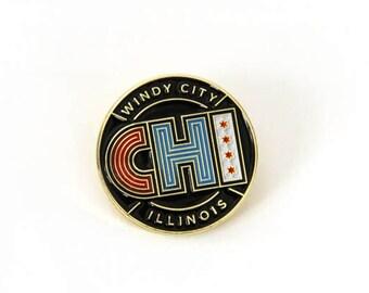 Chicago Enamel Pin
