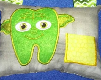 Star wars yoda tooth fairy pillow
