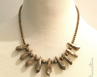 Crystal Quartz Titanium Necklace