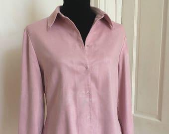 Dream Pink Vintage Winter Blouse