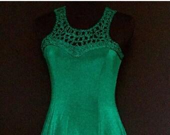 American Green Emerald Vintage Dress