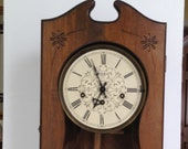 Ansonia German Wood 7-day Wind-up Clock with Westminster Quarter-Hour Chimes and 39 Lord through this hour 39 quote on Door - New Works