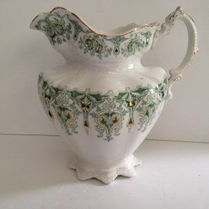 Hull Mardi Gras with Embossed Morning Glory Design Pitcher Vase 66-10; 1938