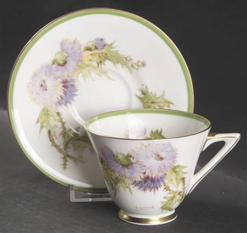 Bread /& Butter Plate and Cup and Saucer Set Royal Doulton /'Glamis Thistle/' Porcelain 5-Piece Place Setting; Dinner Plate Salad Plate