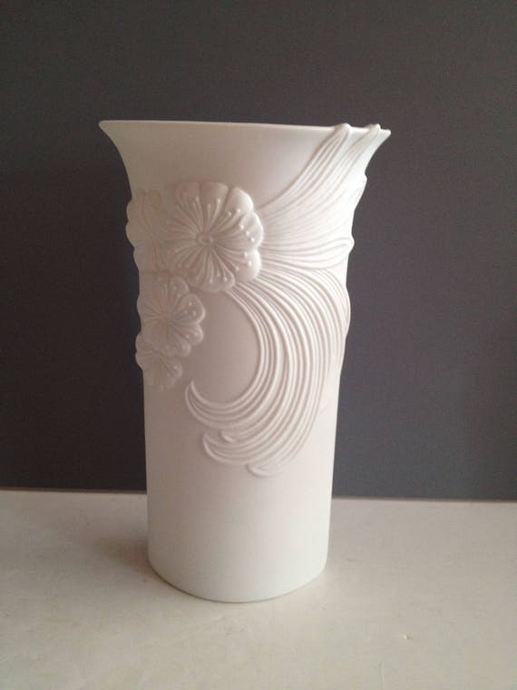 Ak Kaiser West Germany Porcelain Bisque Vase 7402 By Manfred Etsy