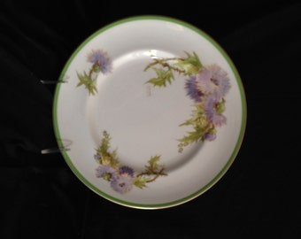 """Royal Doulton 'Glamis Thistle' Dinner Plate 10 5/8""""- signed P Curnock; New Vintage"""